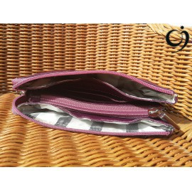 Bőr pénztárca - három fakkos