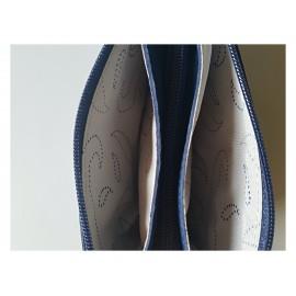 Bőr pénztárca kék színben
