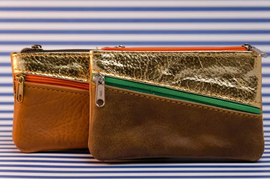 Bőr pénztárca (kis méret)